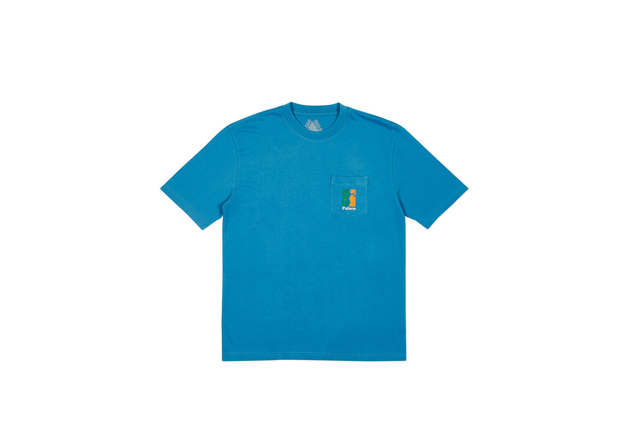 P(ISS) HEAD T-SHIRT BLUE