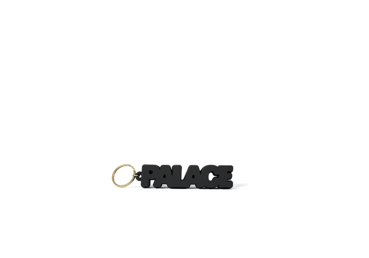 PALACE RUBBER KEYRING BLACK