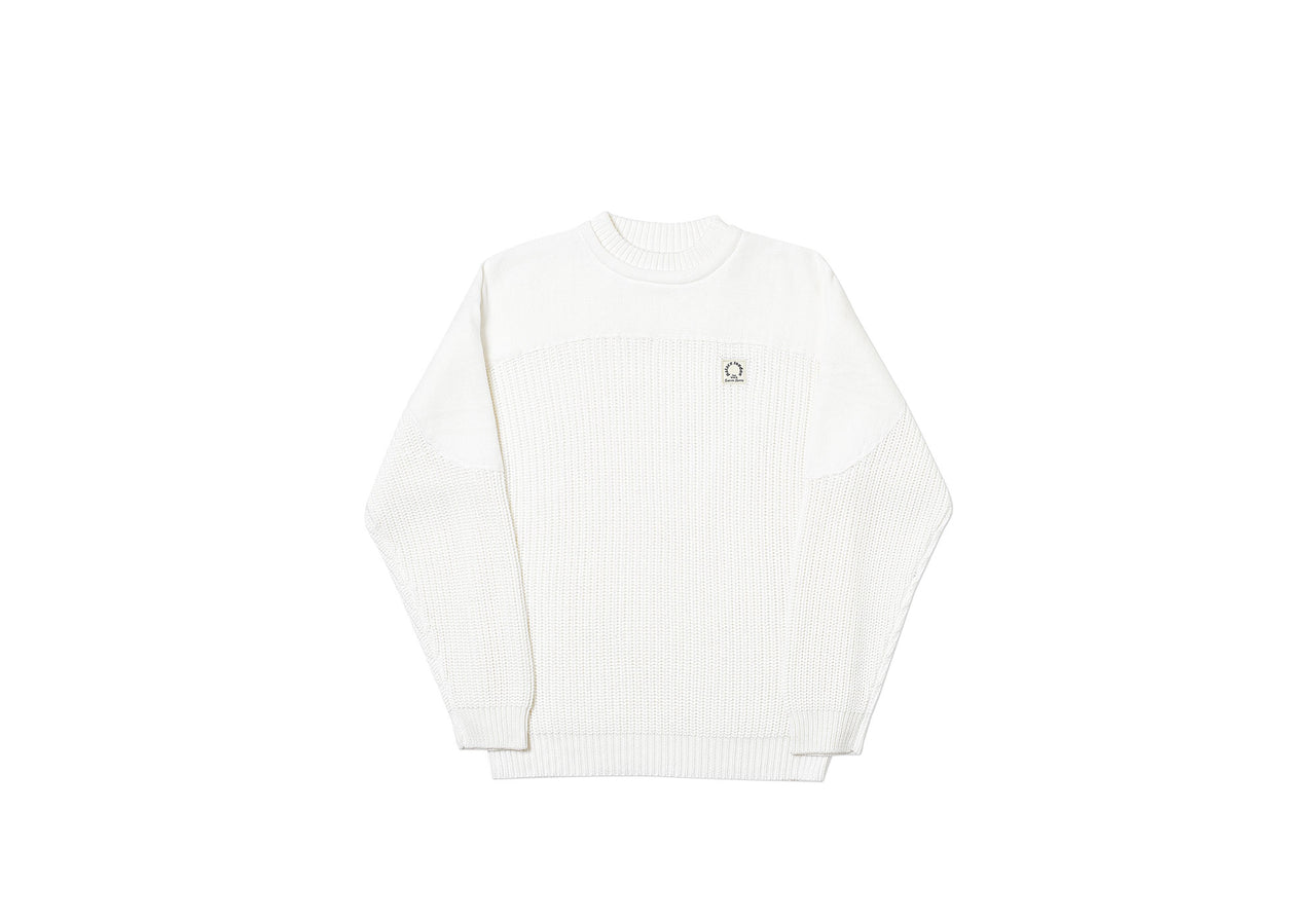 THICK CHUNK KNIT WHITE