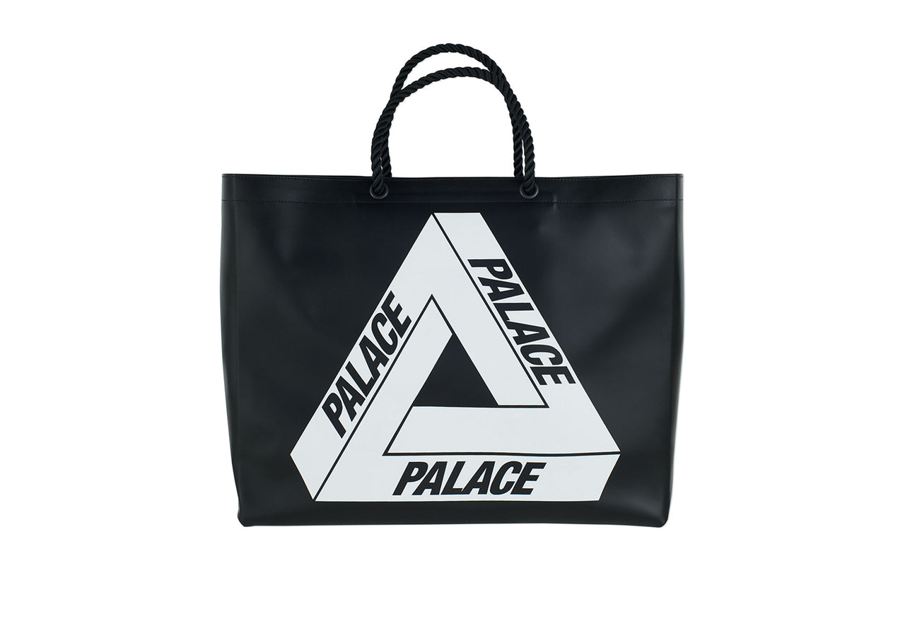 LEATHER CARRIER BAG BLACK