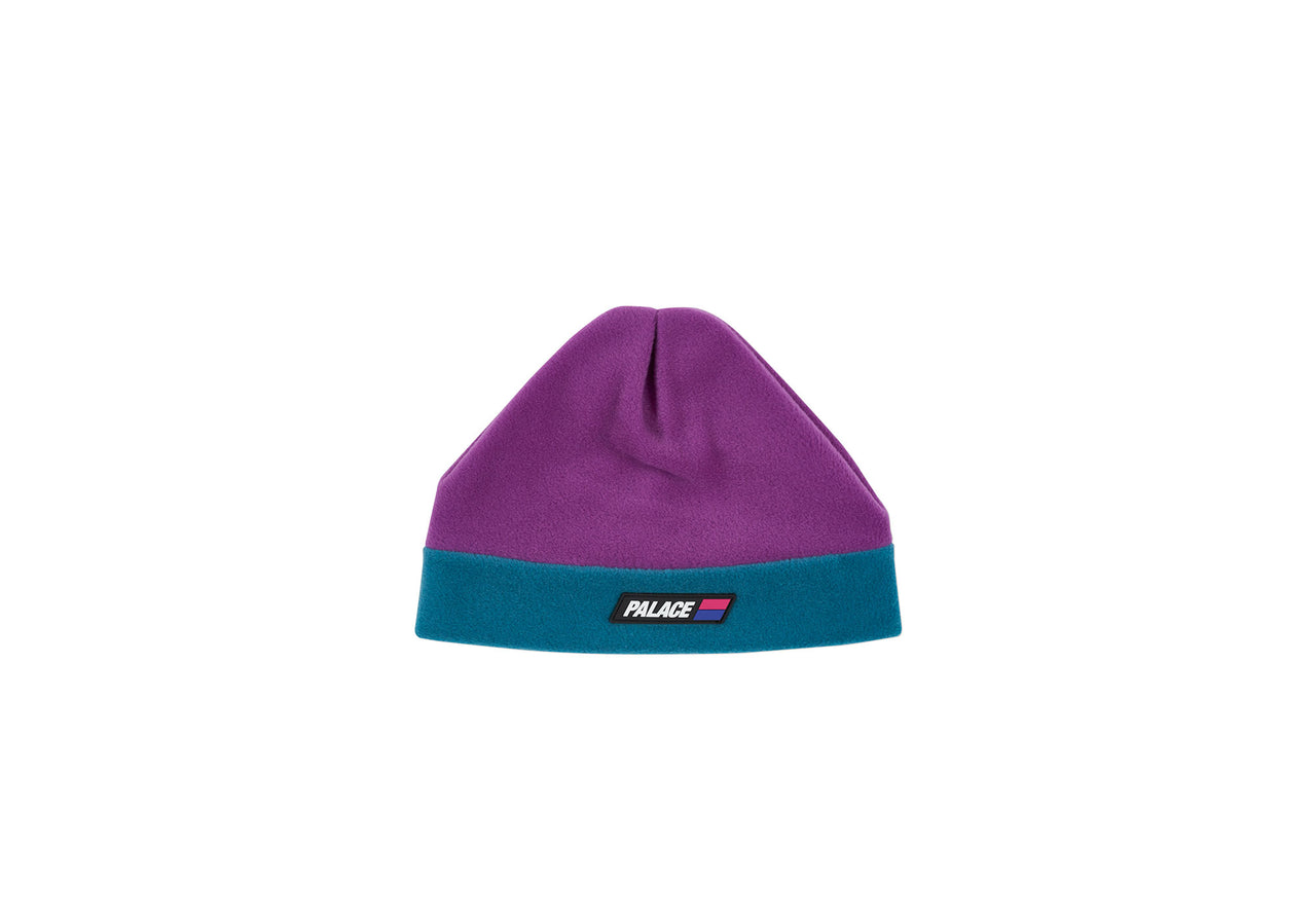 FLEECED BEANIE PURPLE / TEAL