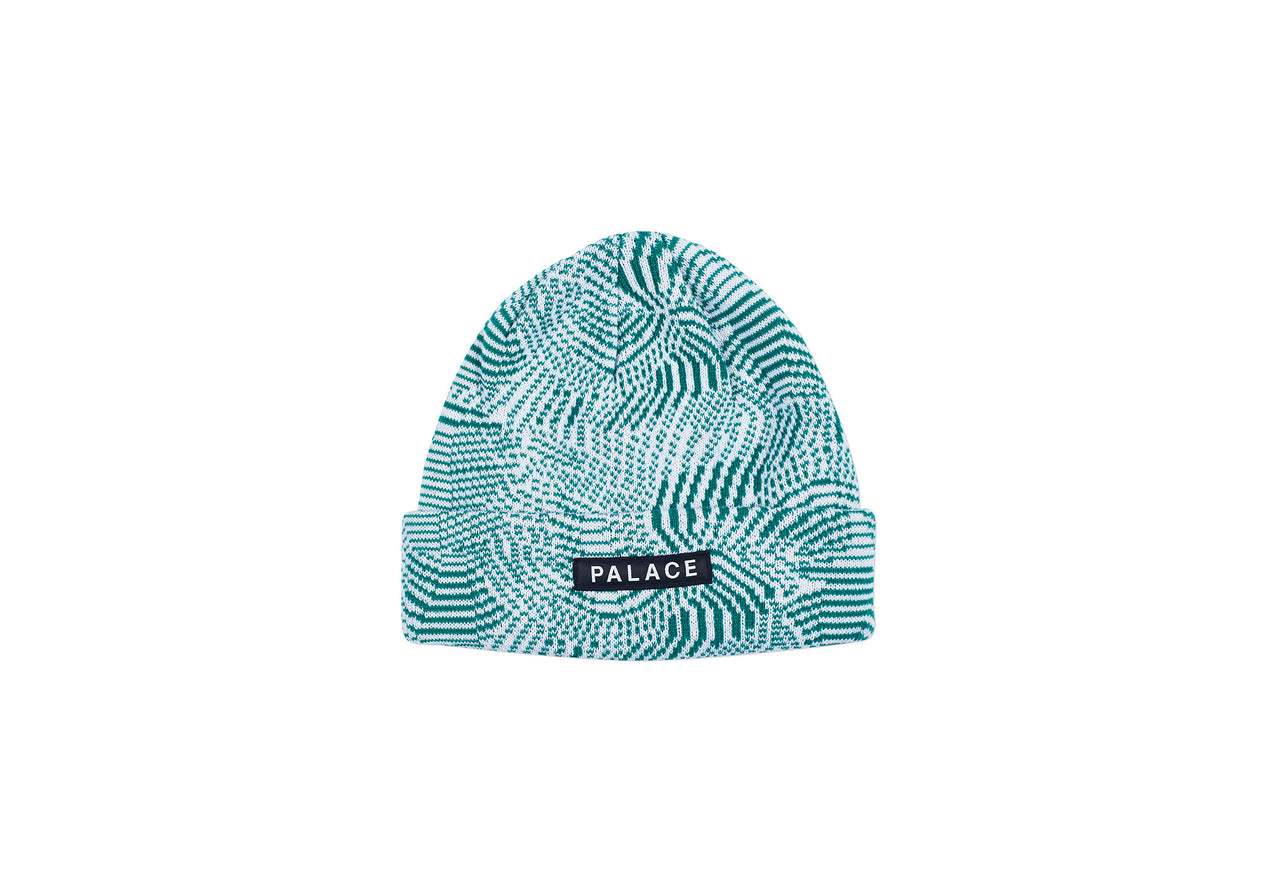 SWIRLY WURLY BEANIE GREEN