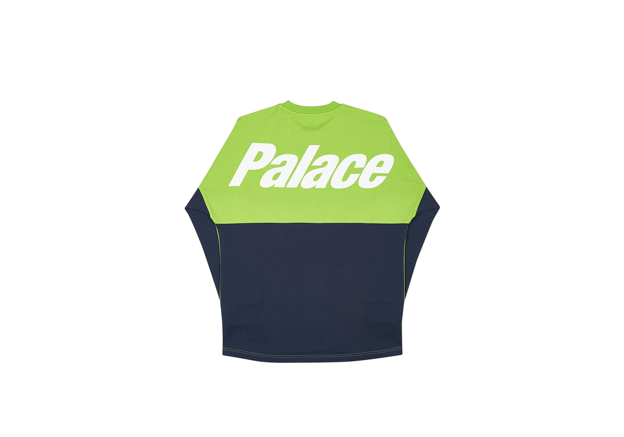 SPLITTER LONGSLEEVE LIME GREEN / NAVY