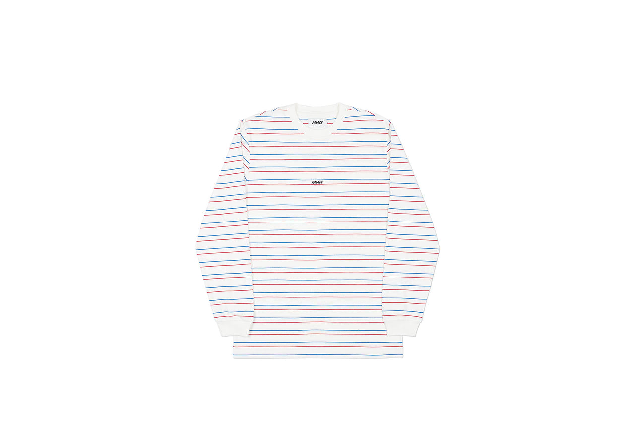 BASICALLY A STRIPE LONGSLEEVE WHITE