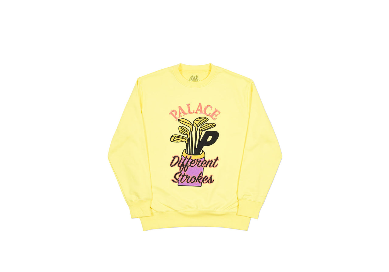 DIF STROKES CREW LIGHT YELLOW