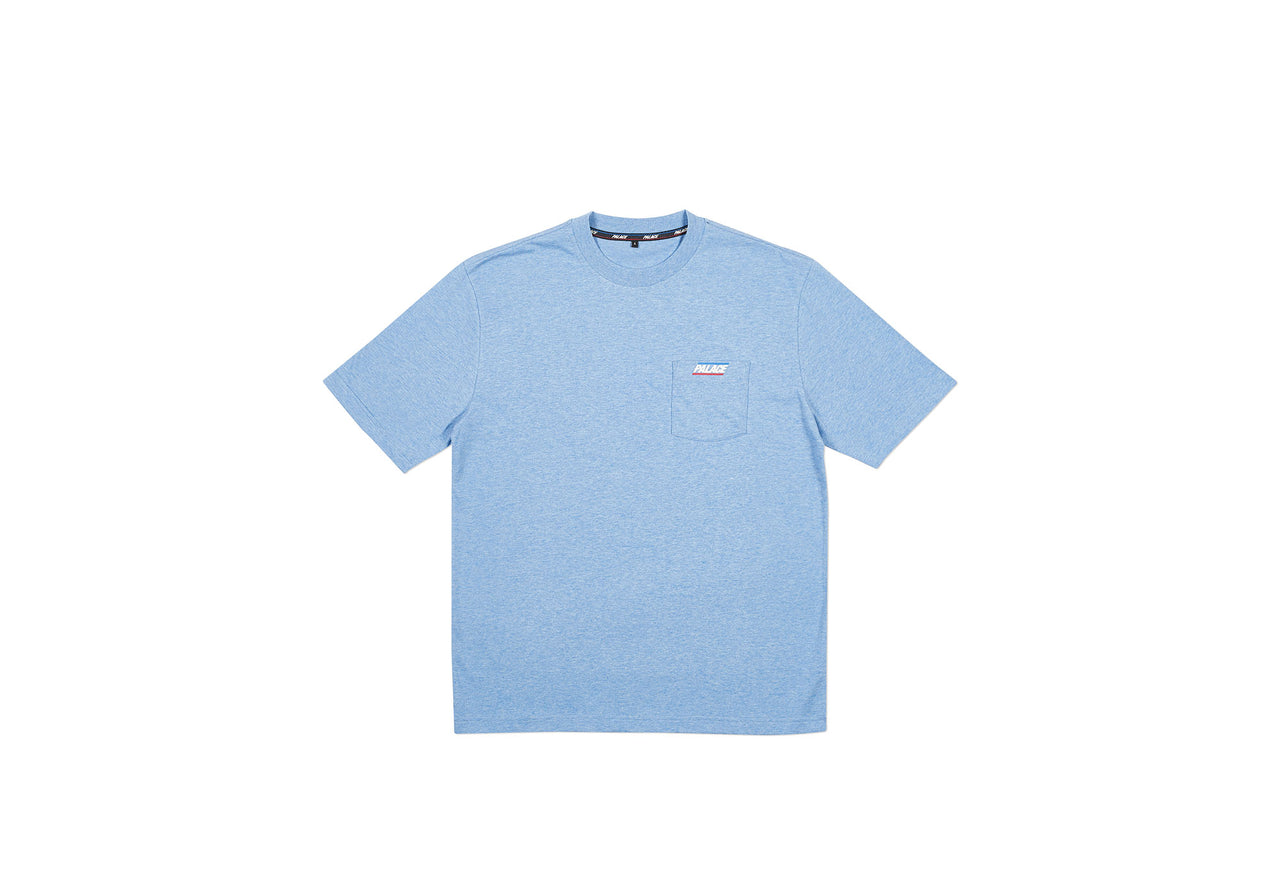 BASICALLY A POCKET T-SHIRT CLASSIC BLUE MARL