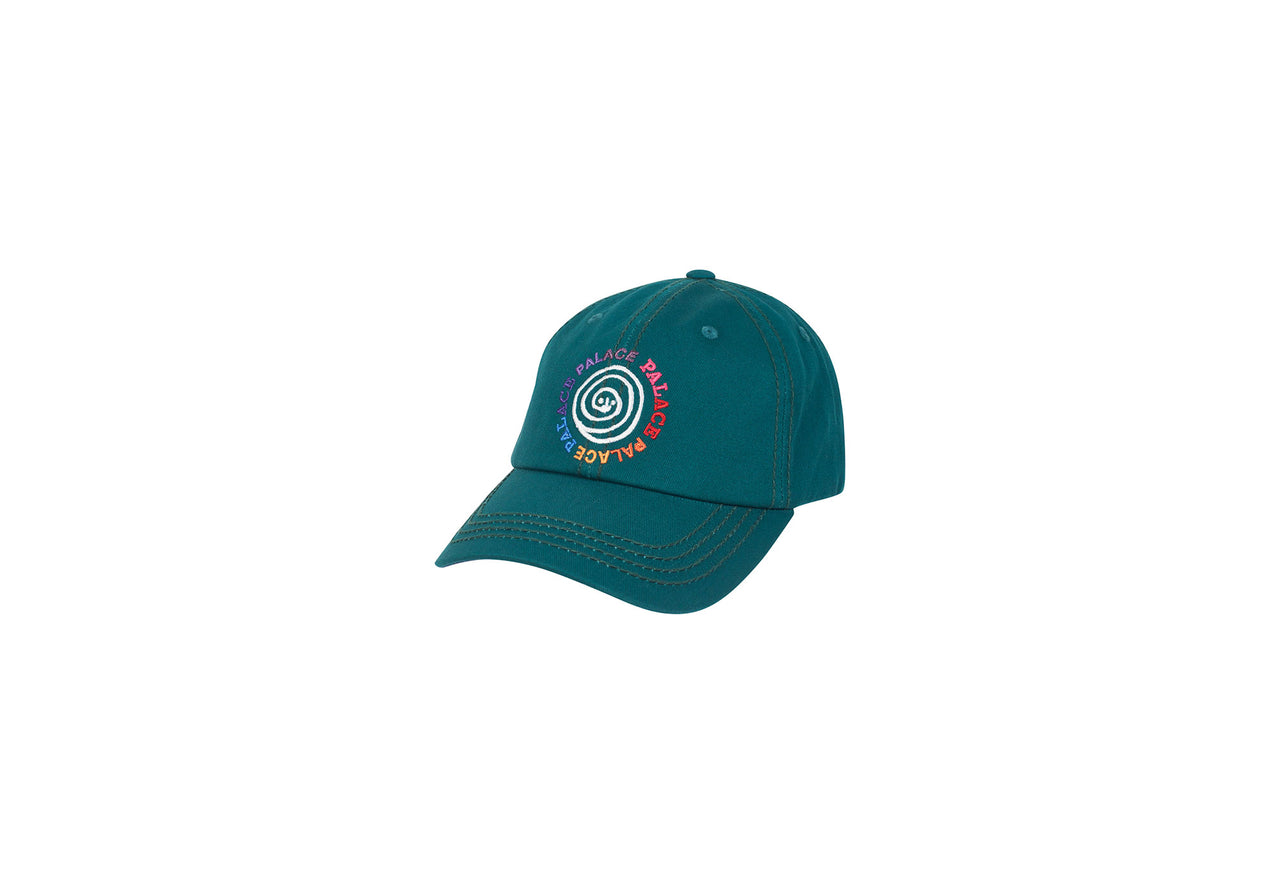 SWIRLY JEAN STITCH 6-PANEL GREEN