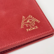 LEATHER BILLFOLD WALLET RED