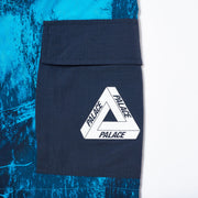 ASYMETRIC REAL TREE SHELL SHORTS BLUE