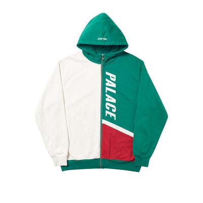 FLAGGO ZIP HOOD WHITE / GREEN / RED