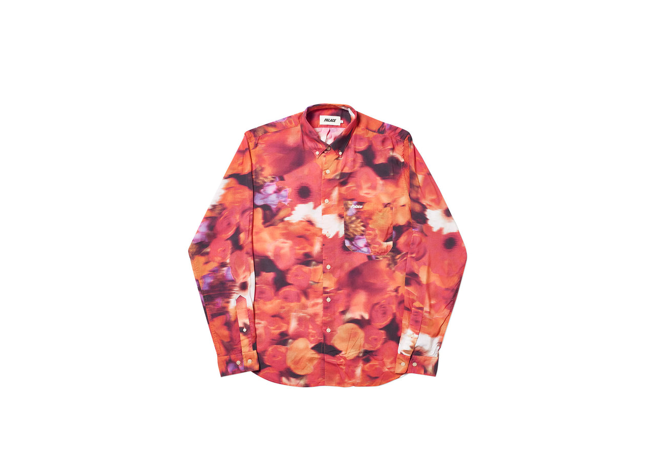 BLURRY FLOWER SHIRT ORANGE