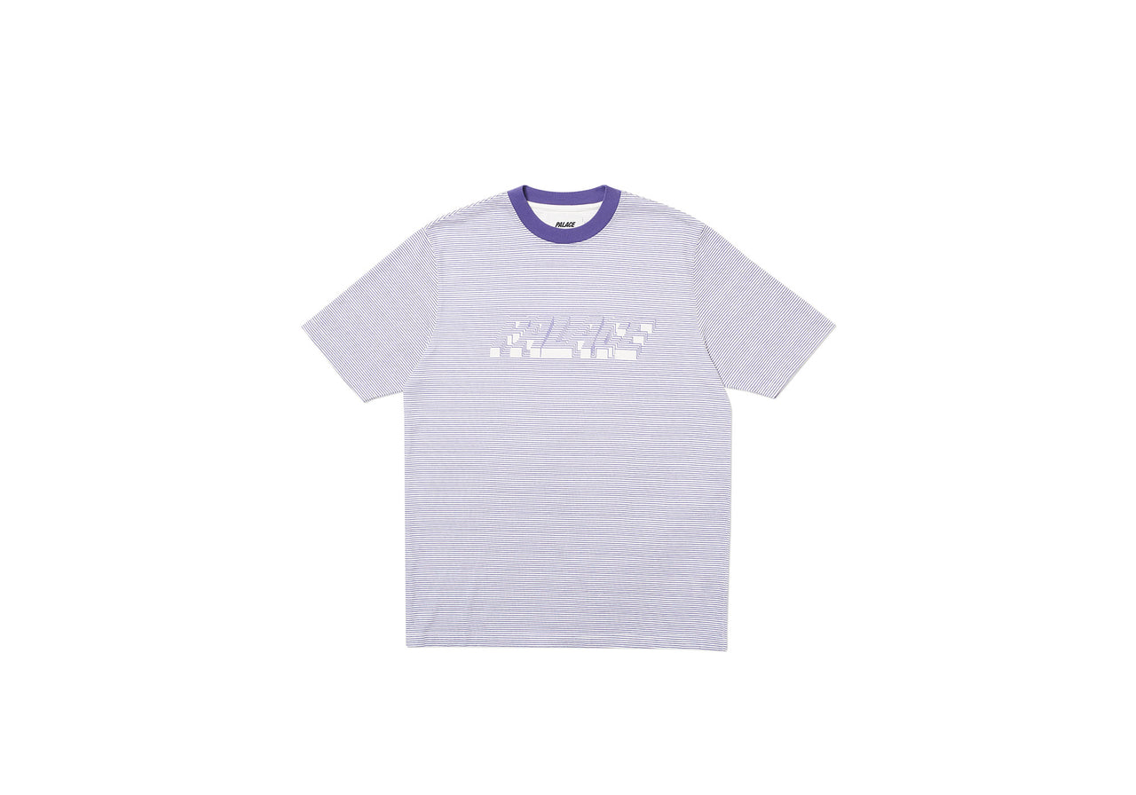 3D STRIPE T-SHIRT PURPLE / WHITE