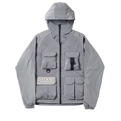 UTILITY IRIDESCENT JACKET + VEST GREY