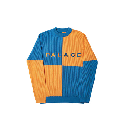BATTON-BERG KNIT ORANGE / BLUE
