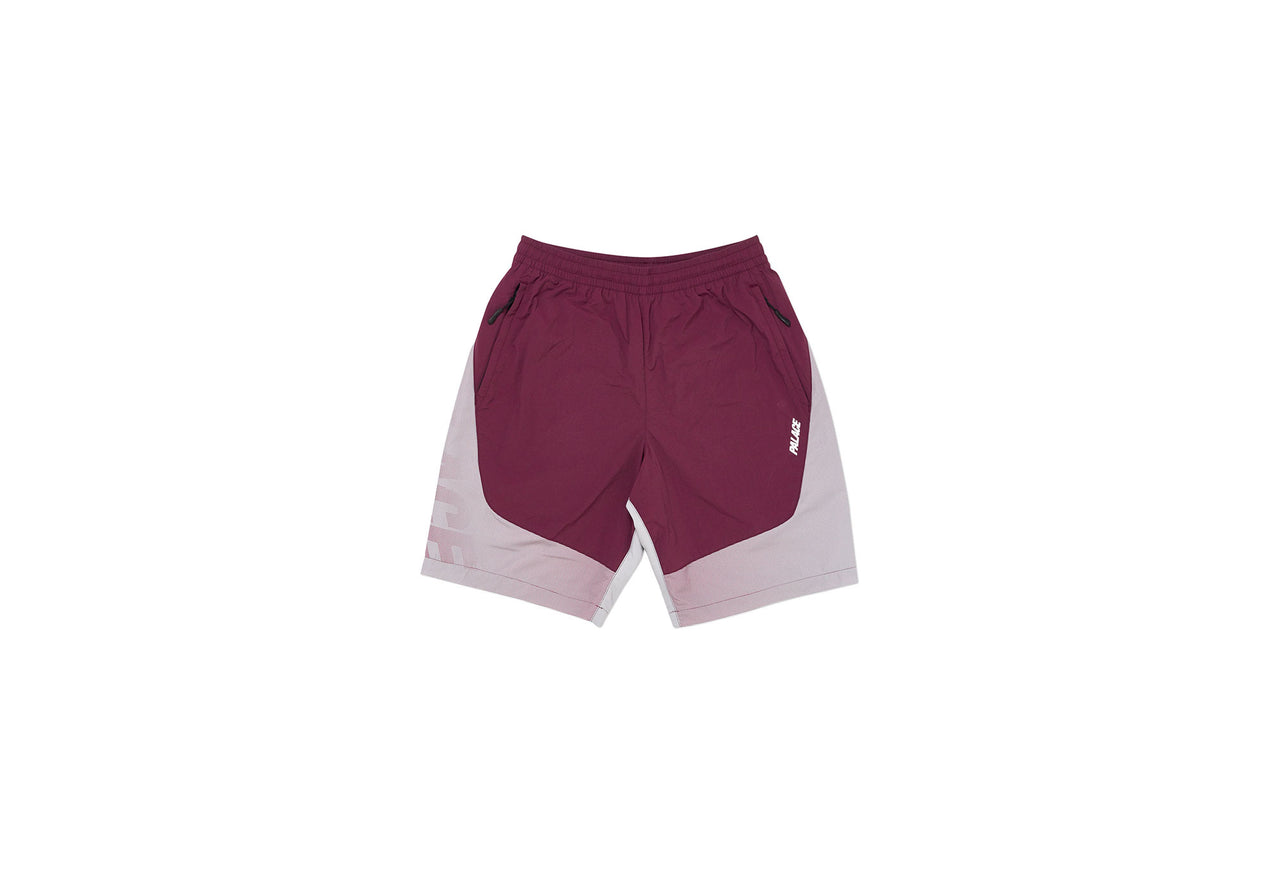 D. FADE SHELL SHORTS GREY / BURGUNDY