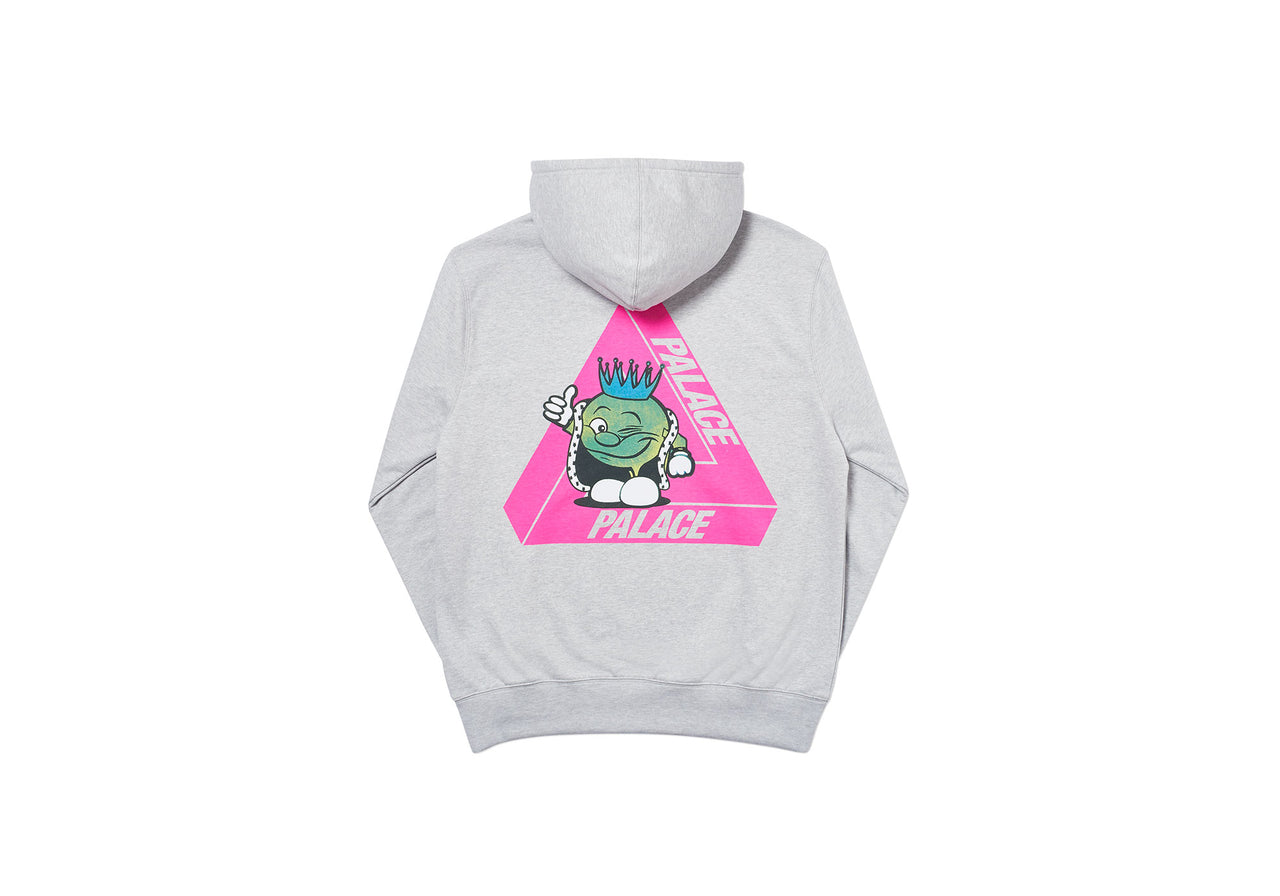 TRI-SMILER HOOD GREY MARL