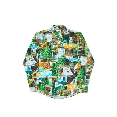 DAS WATER FALLS SHIRT GREEN