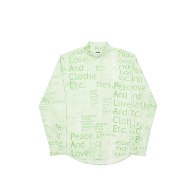 THIS IS WHAT PALACE STANDS FOR SHIRT GREEN