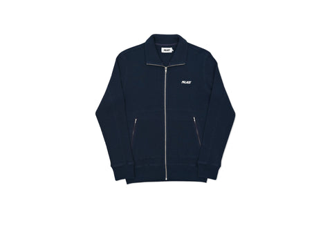WAFFLED TRACK TOP NAVY