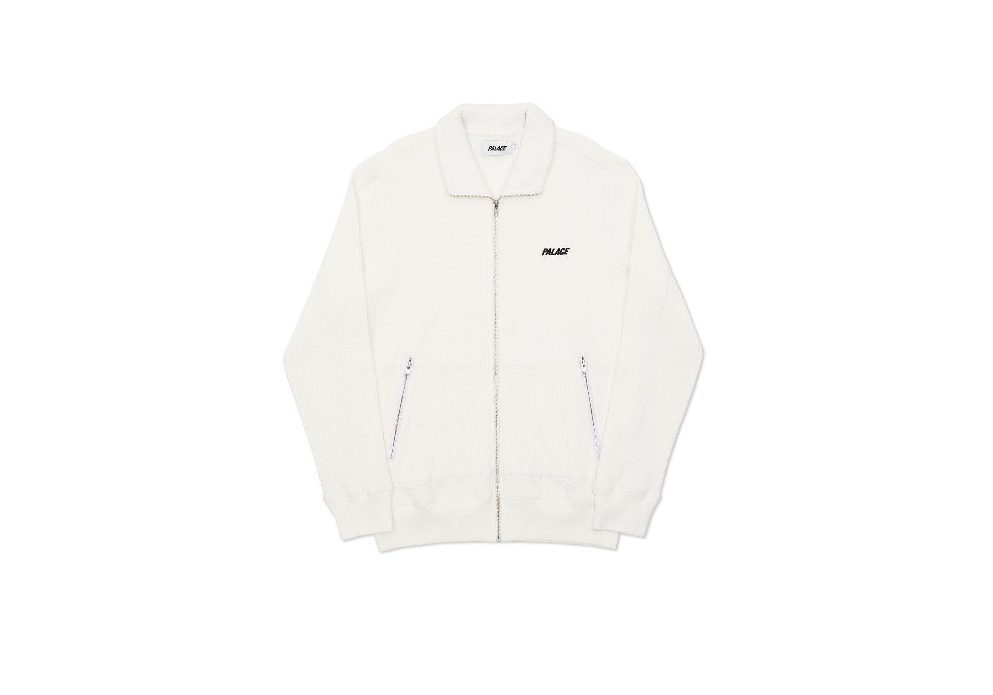 WAFFLED TRACK TOP WHITE