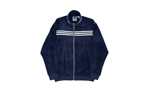 ADIDAS PALACE VELOUR TRACK TOP NIGHT INDIGO / WHITE