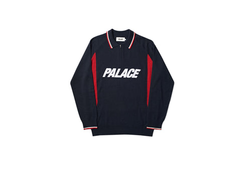 POLO ZIP KNIT BLACK