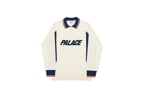 POLO ZIP KNIT WHITE