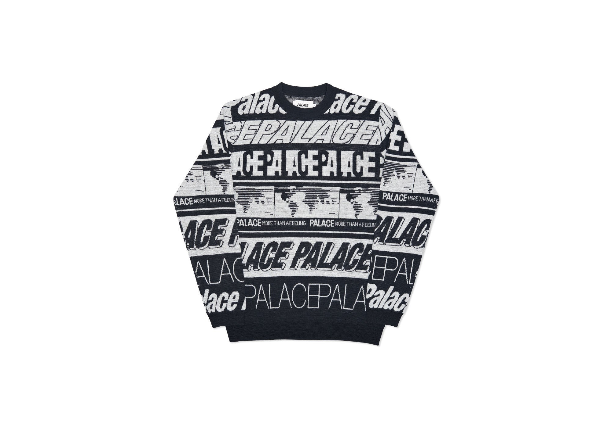 MULTI FONT KNIT BLACK / WHITE