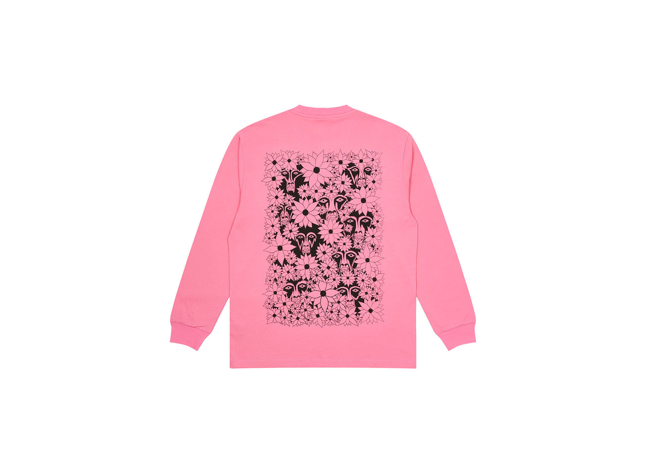 PALACE SUBURBAN BLISS FLOWER FACES LONGSLEEVE PINK