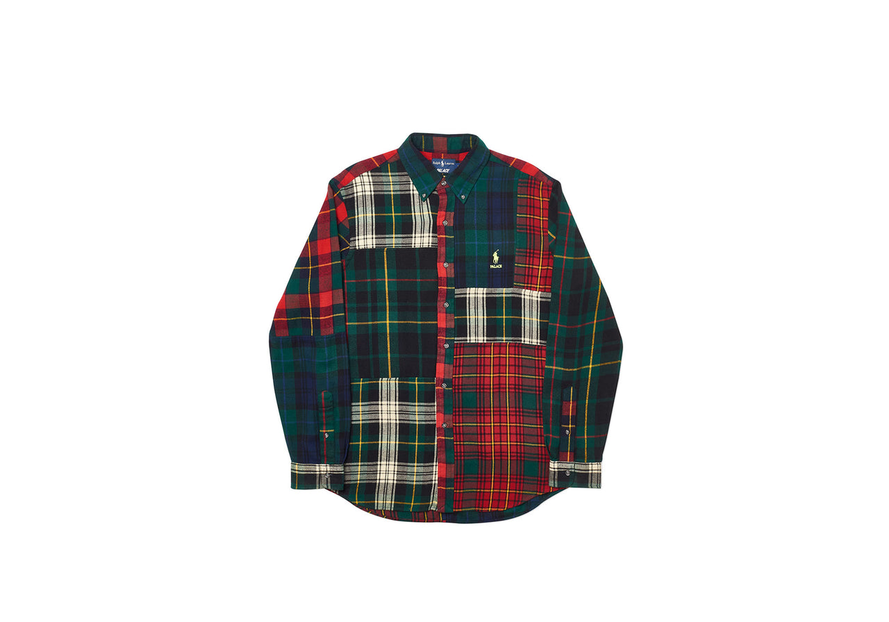 PALACE RALPH LAUREN B.D. SHIRT PIECED FLANNEL PLAID MULTI