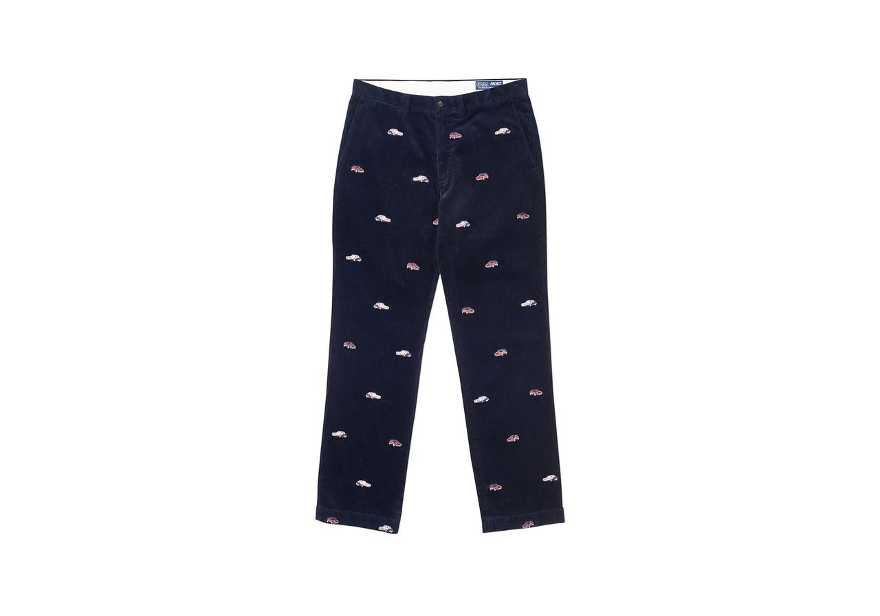PALACE RALPH LAUREN EMBROIDERED CORD GTI CHINO AVIATOR NAVY