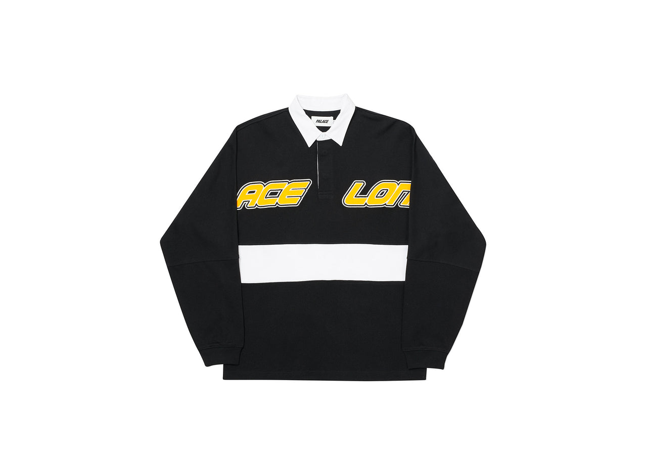 PALACE LONDON RUGBY TOP BLACK / WHITE
