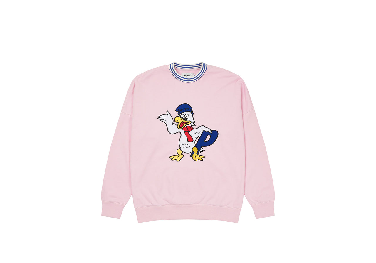 CHILLY DUCK OUT DROP SHOULDER CREW PINK