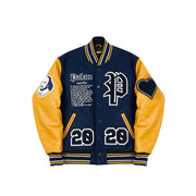 AS YOU LIKE IT VARSITY JACKET NAVY