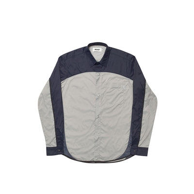 SHELL OUT SHIRT GREY / NAVY