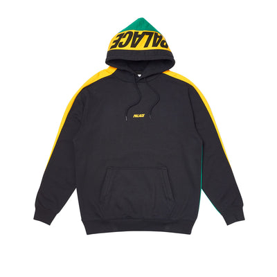 CATCH UP HOOD BLACK / YELLOW / GREEN