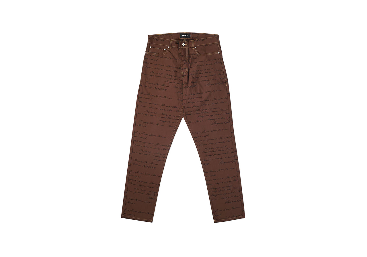 DAS MIND TROUSER ORANGE / BLACK