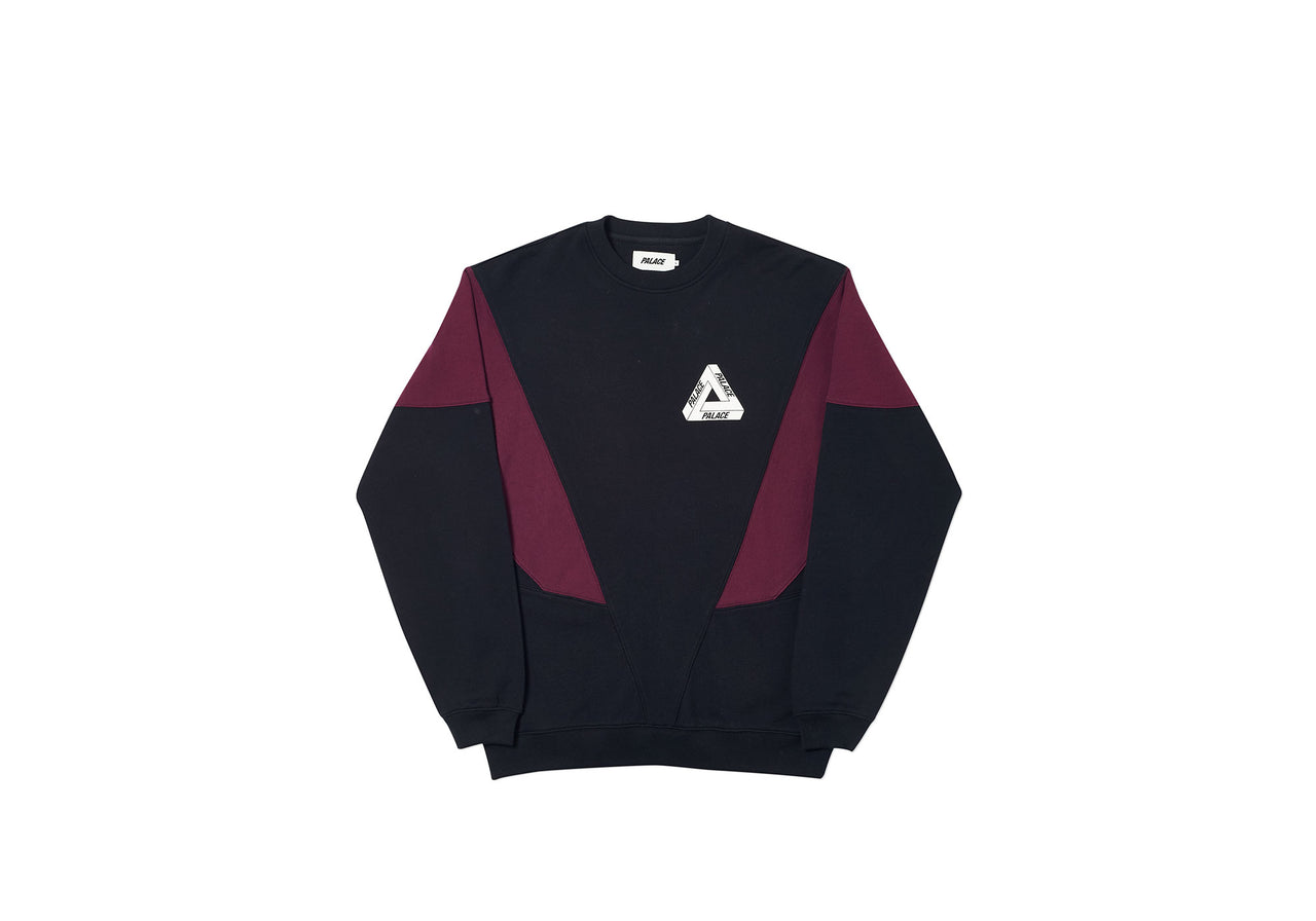 DROPPETH CREW BLACK / BURGUNDY