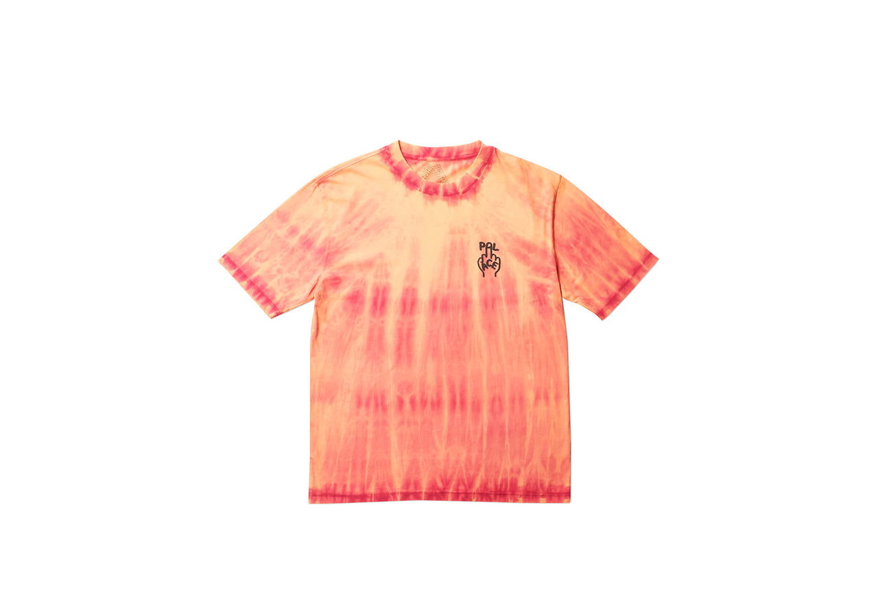 FINGER UP T-SHIRT ORANGE TIE DYE