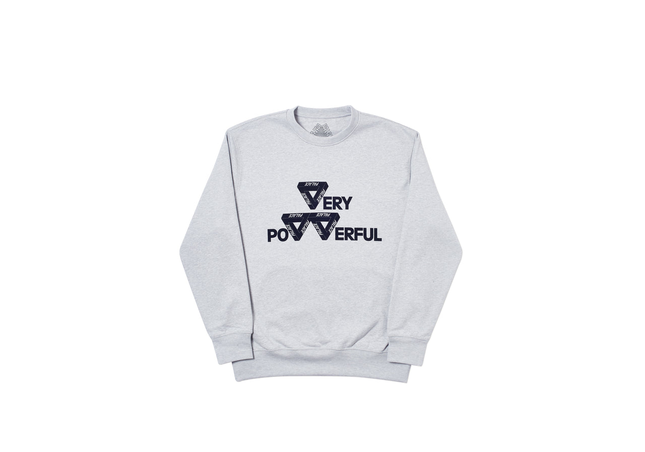 POWER CREW GREY MARL