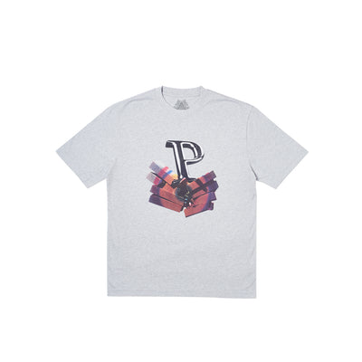 P SMISH T-SHIRT GREY MARL