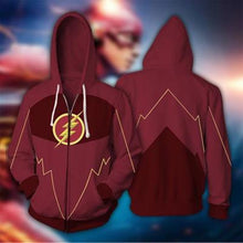 Load image into Gallery viewer, The Flash Kid Flash Bart Allen Cosplay Costumes 2019 3D Printed Zipper Hoodies Sweatshirt DC Anime Cartoon Flash hooded Jackets