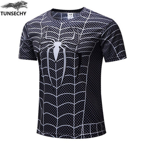 2019  New  Fitness Compression T-Shirt Men Anime Spider-Man Superhero Captain Americ Superman 3D T Shirt Bodybuilding tshirt