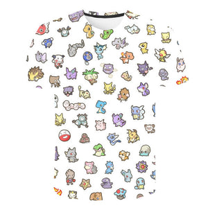 2019 3D Pokemon Pikachu T-shirt For Men Women Tshirts Fashion Summer Casual Tees Anime Cartoon Clothes Cute Costume streetwear