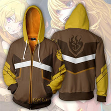 Load image into Gallery viewer, RWBY Anime Ember Celica Hoodie Cosplay Costume Man Women Anime Casual Zipper Jackets