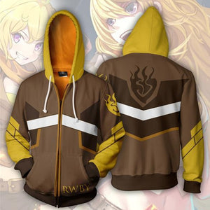 RWBY Anime Ember Celica Hoodie Cosplay Costume Man Women Anime Casual Zipper Jackets