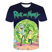 Load image into Gallery viewer, 2019 funny 3D man t shirt kids Rick and Morty One piece children's Brand tshirt Summer Anime off white Fashion casual Streetwear