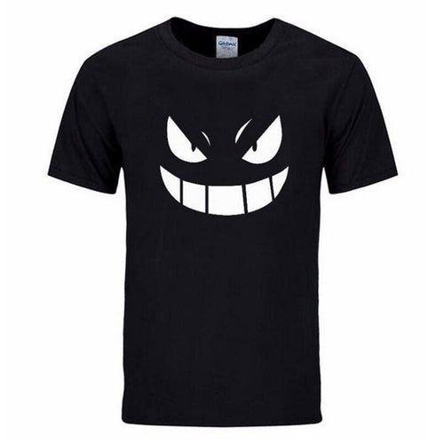 2017 Summer streetwear mma Pocket Monster Pokemon t-shirt Men hip hop casual Short Sleev Gengar Cartoon Anime tshirts man