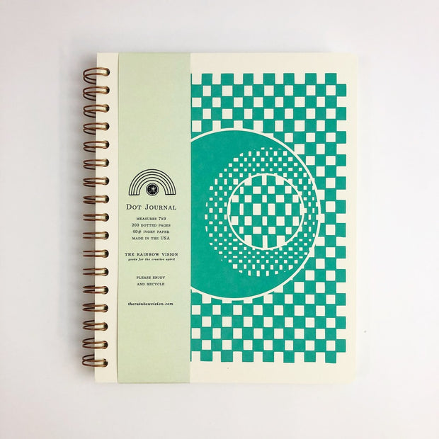 Checker Moon Dot Grid Journal (WHOL)