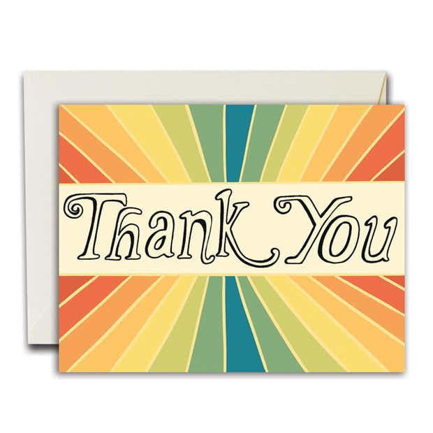 Thank You Rainbow Rays Card, Boxed Set (WHOL) 1